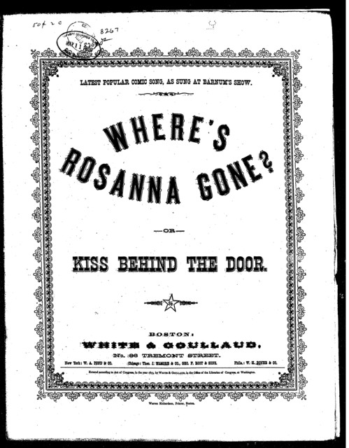 Where's Rosanna gone?; or The kiss beside the door