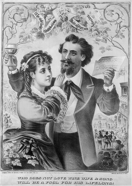 Who does not love wine, wife & song, will be a fool for his lifelong! / And. Schwabe.