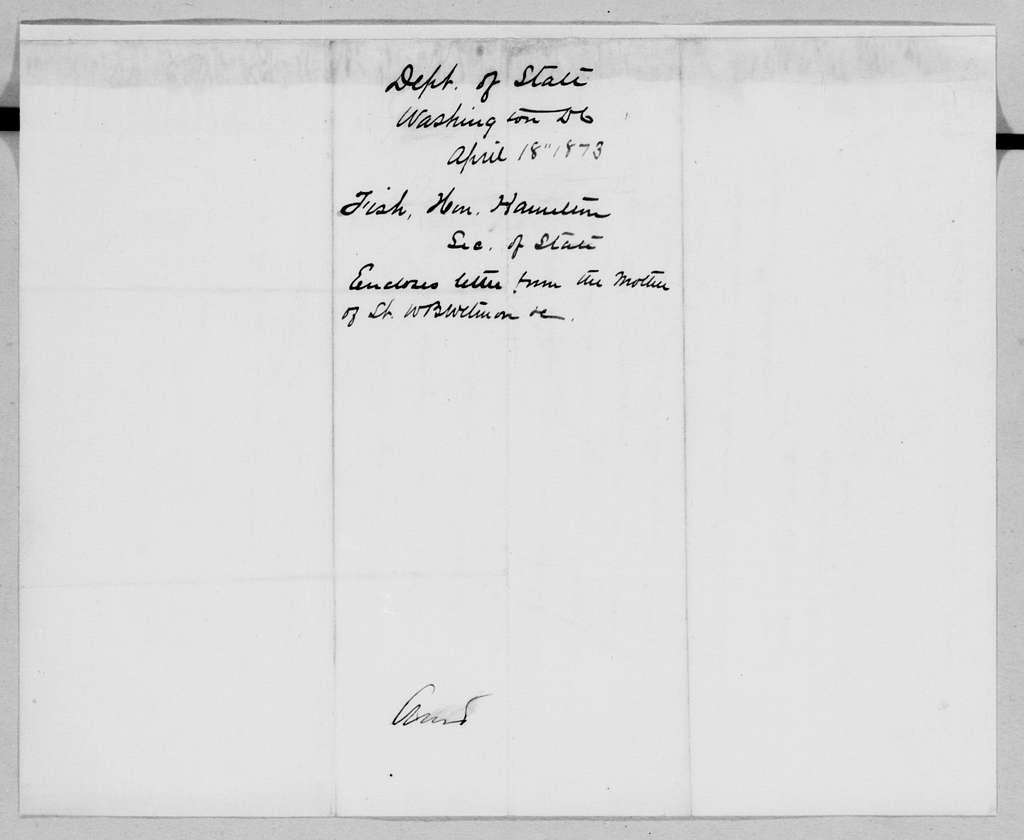William T. Sherman Papers: General Correspondence, 1837-1891; 1873, Jan. 22-July 18