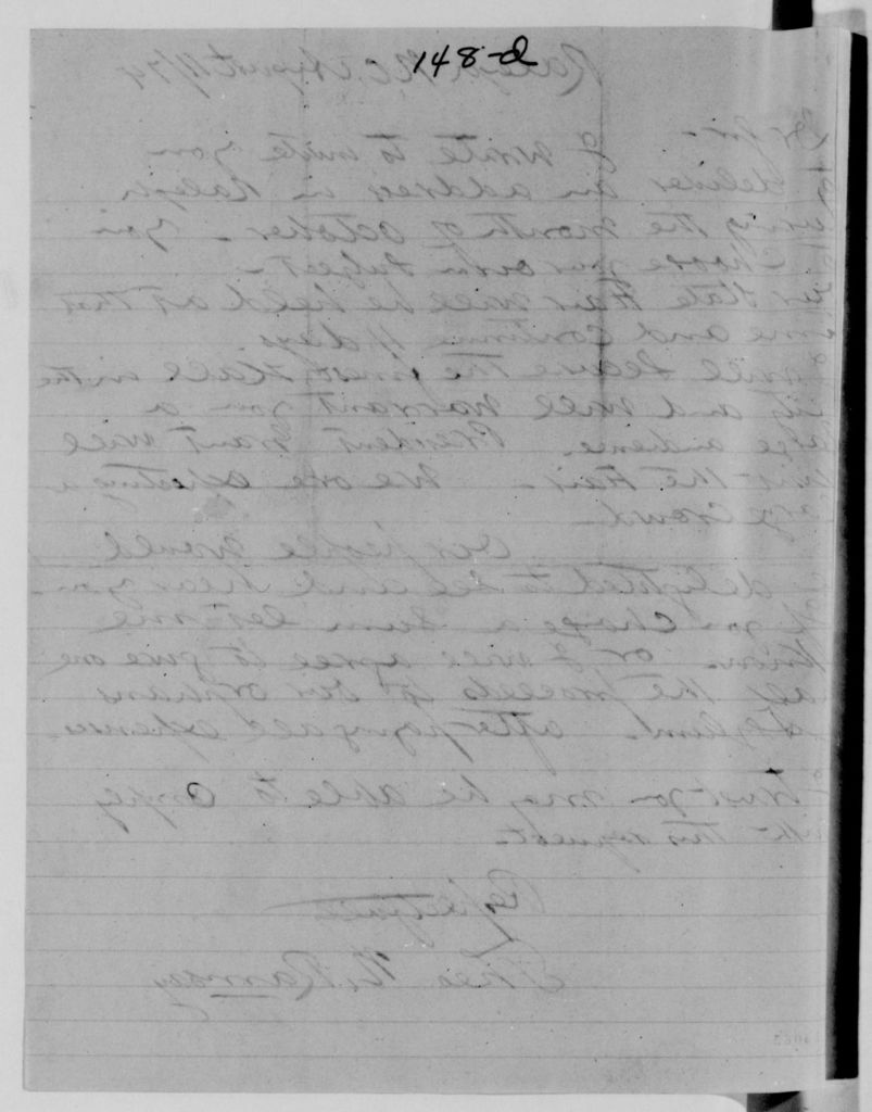 Alexander Hamilton Stephens Papers: General Correspondence, 1784-1886; 1874, July 25-Sept. 30