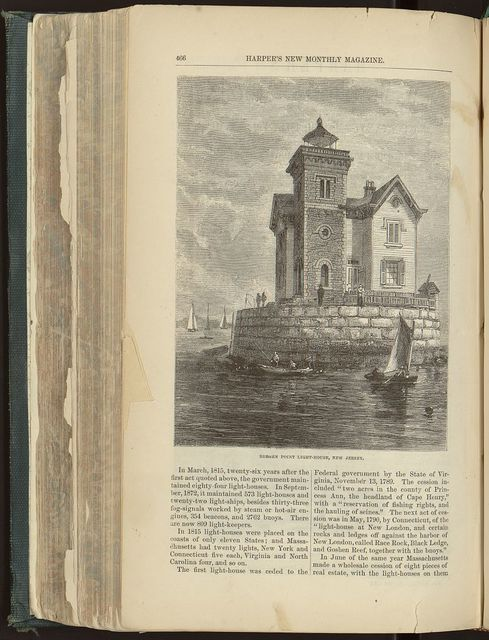 Bergen Point light-house, New Jersey / A.T. Sears, sc.