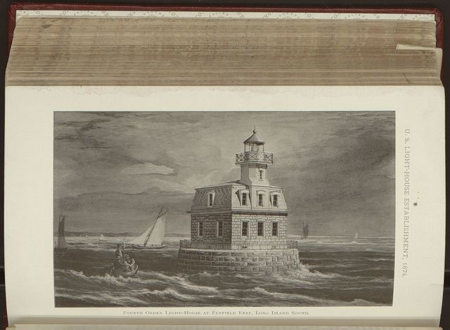 Fourth order light-house at Penfield Reef, Long Island Sound