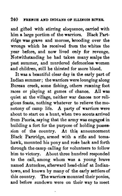 French and Indians of Illinois River,