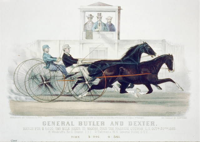General Butler and Dexter: match for $2,000, two mile heats, to wagons, over the fashion course, L.I. Octr. 27th 1865