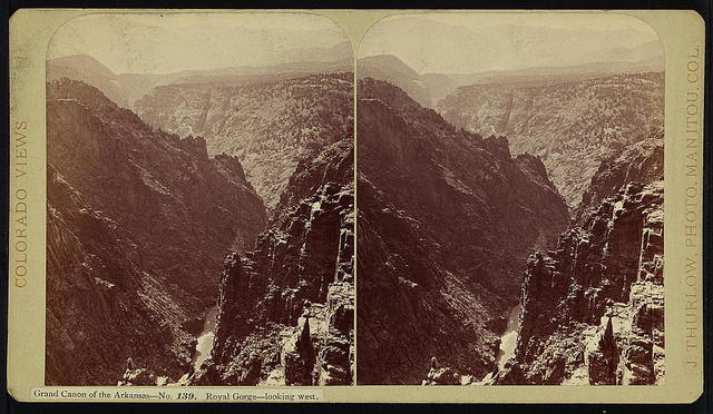 Grand Canyon. Royal Gorge, looking west