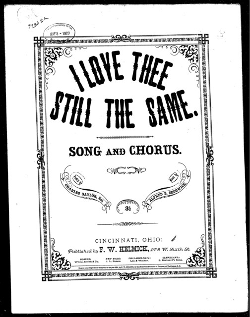 I love thee still the same