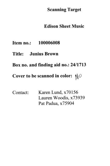 Junius Brown