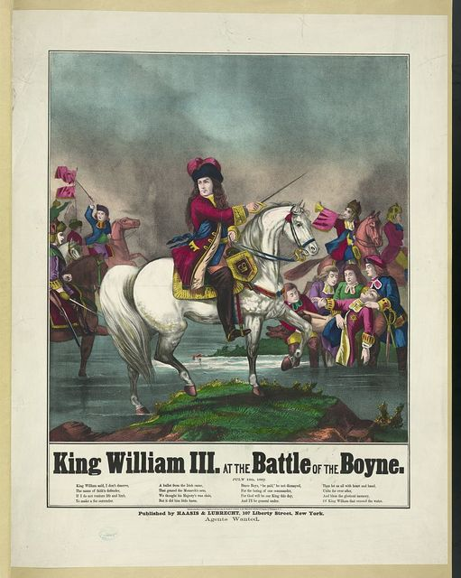 King William III at the battle of the Boyne