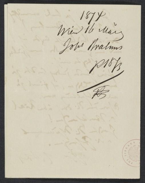[Letter], 1874 März 16, Wien [to] S. [Simrock]