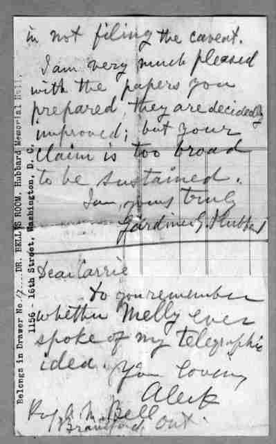 Letter from Alexander Graham Bell to Alexander Melville Bell, Eliza Symonds Bell, Carrie Bell, November 24, 1874