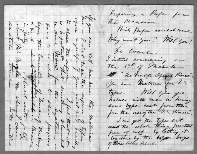 Letter from Alexander Graham Bell to Alexander Melville Bell, Eliza Symonds Bell, Carrie Bell, Charles J. Bell, January 15, 1874