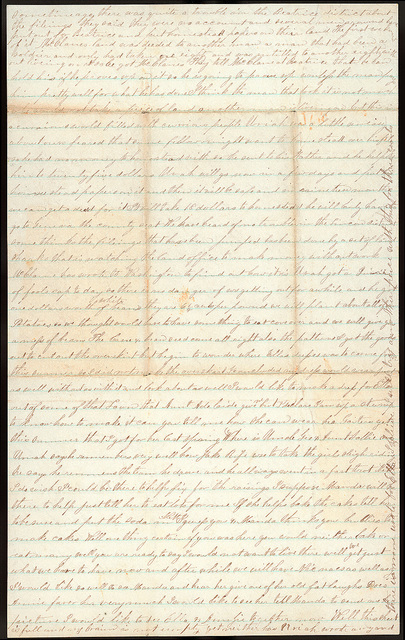 Letter from Mattie V. Oblinger to Thomas Family, April 25, 1874