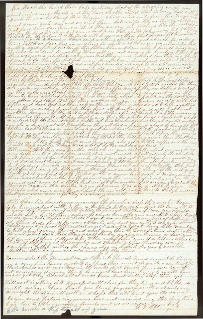 Letter from Mattie V. Oblinger to Thomas Family, November 24, 1874