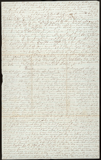 Letter from Uriah W. Oblinger and Mattie V. Oblinger to Thomas Family, December 14, 1874