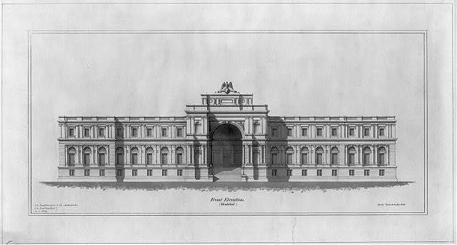 [Library of Congress, Washington, D.C. Front elevation (Modern/modified Renaissance)]