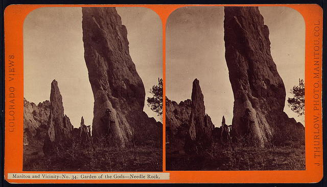Manitou and Vicinity. Garden of the Gods, Needle Rock