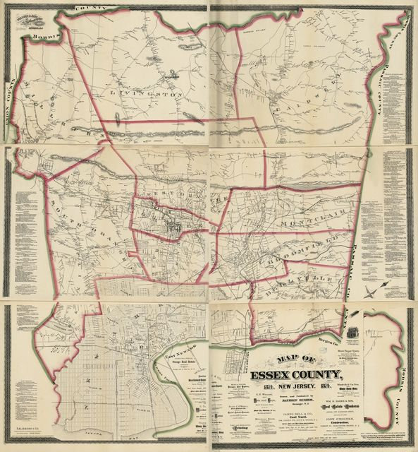 Map of Essex County, New Jersey : 1874 /