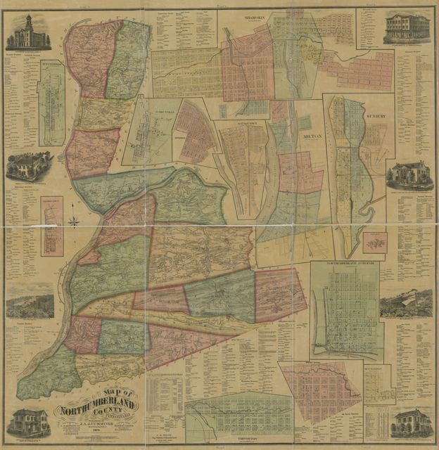 Map of Northumberland County, Pennsylvania : from actual surveys /