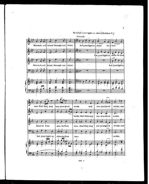 Music for the Episcopal Church, Six Offertory sentences