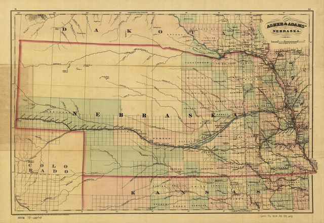 [New commercial and topographical rail road map & guide of Nebraska].
