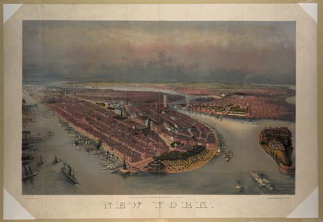 New York / drawn by J. Bachmann ; print by G. Schlegel, 97 William St. N.Y.