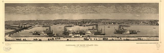 Panorama of Rock Island, Ill. as seen from Davenport, Iowa.