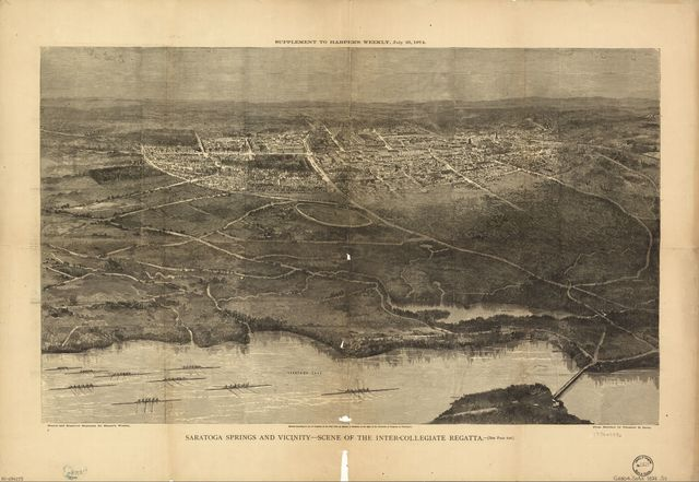 Saratoga Springs and vicinity : scene of the inter-collegiate regatta : [see page 626].
