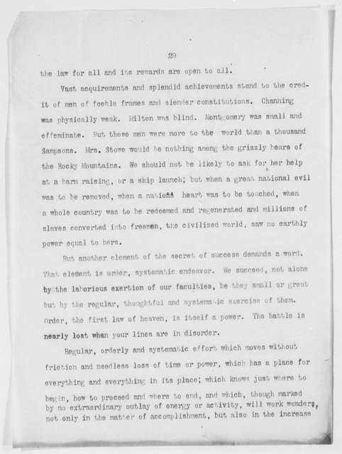 """Self-Made Men."" Address before the Students of the Indian Industrial School at Carlisle, Pa. - Folder 5 of 16"