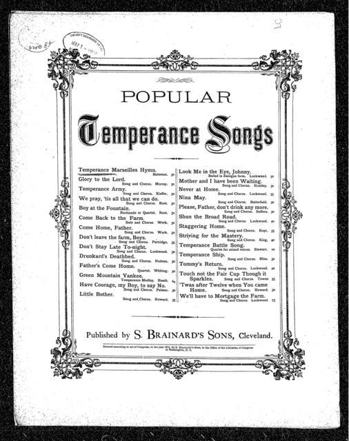 Temperance marseillaise hymn