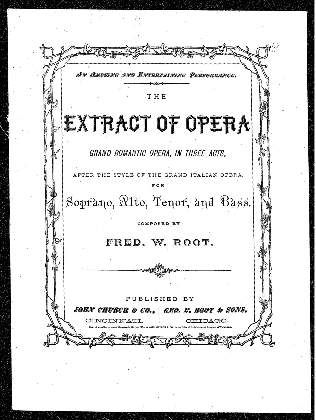 The  Extract of opera