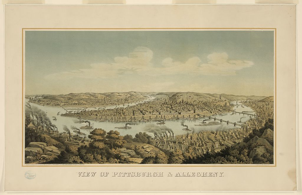 View of Pittsburgh & Allegheny / Otto Krebs lith., Pittsburgh.