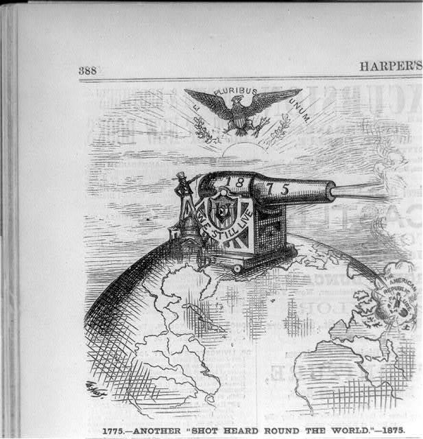 """1775 - another 'shot heard round the world' - 1875"""