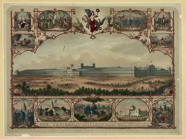 1776, Centennial International Exhibition, 1876, History of the United States / published & printed by H. Schile, 36 Division St., NY.