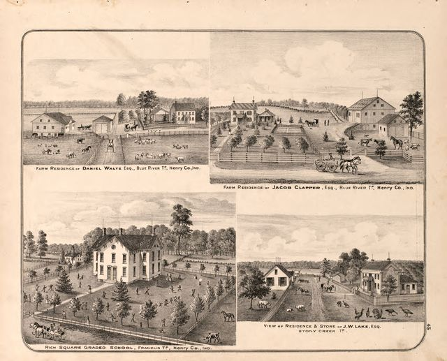 An illustrated historical atlas of Henry Co., Indiana /