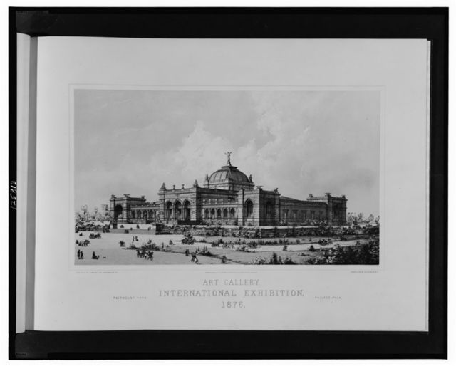 Art Gallery, International Exhibition, 1876--Fairmont Park, Philadelphia / published by G. Meyer, 1100 Chestnut St., Pa.; photo-lith. by Julius Bien, N.Y.