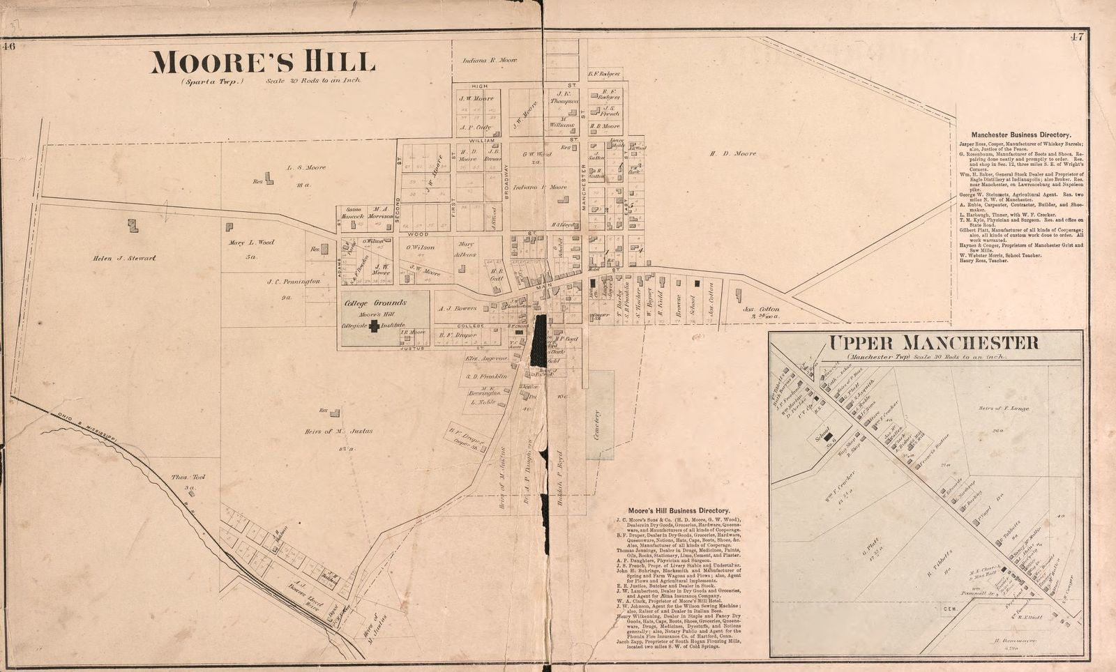 Atlas of Dearborn County, Indiana : to which is added a map of the ...