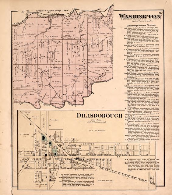 Atlas of Dearborn County, Indiana : to which is added a map of the state of Indiana, also an outline and rail road map of the United States /