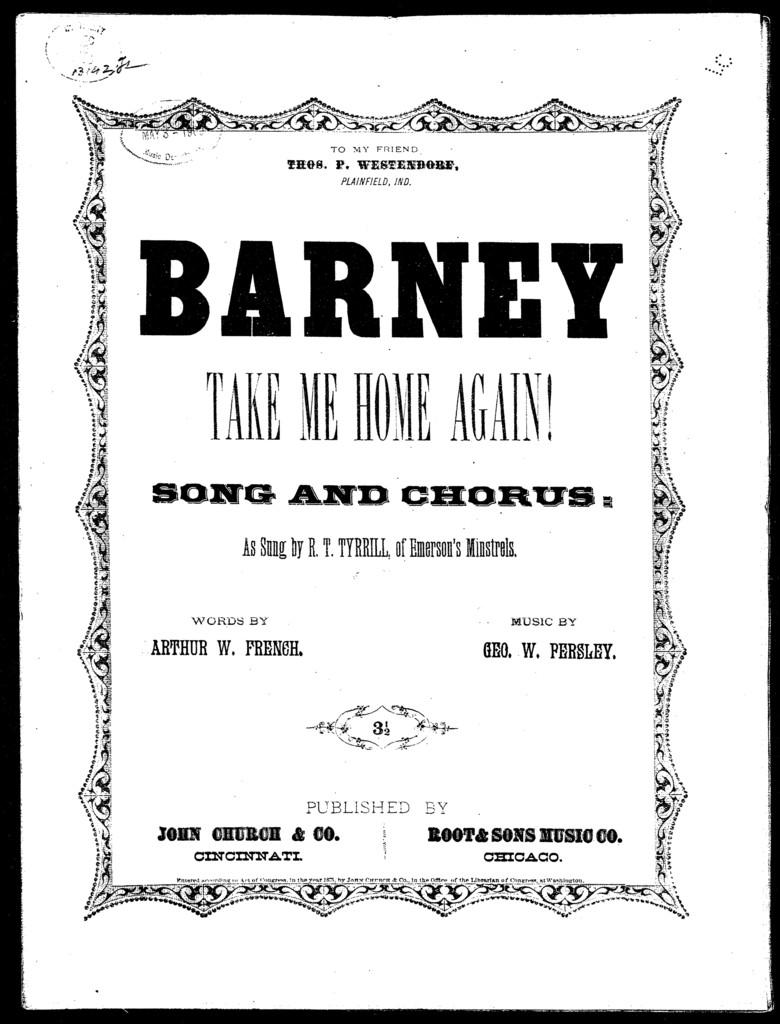Barney, take me home again