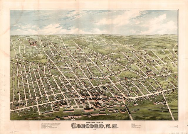 Bird's eye view of Concord, N.H. : 1875 /