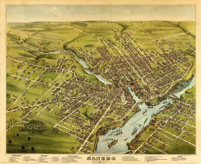 Bird's eye view of the City of Bangor, Penobscot County, Maine, 1875 /