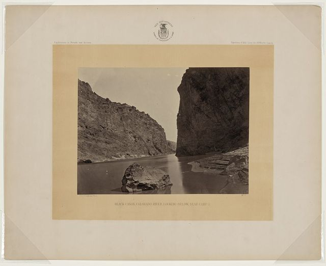 Black Cañon, Colorado River, looking below, near Camp 7 / T.H. O'Sullivan,  phot.
