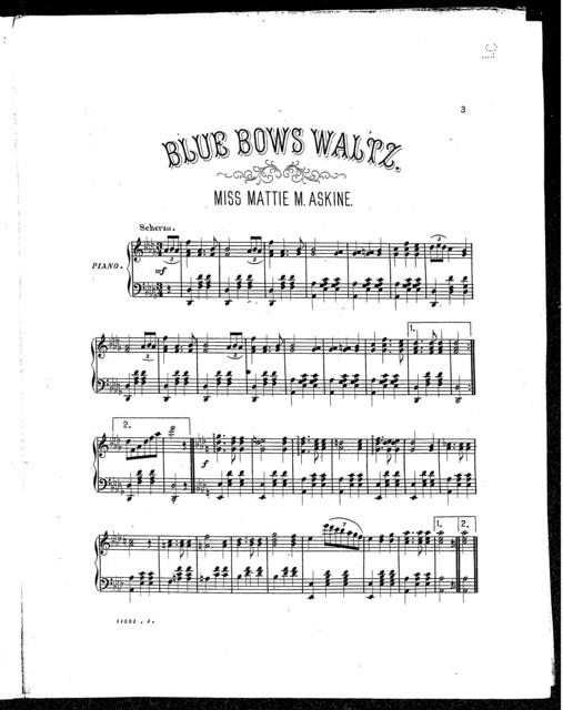 Blue bows waltz