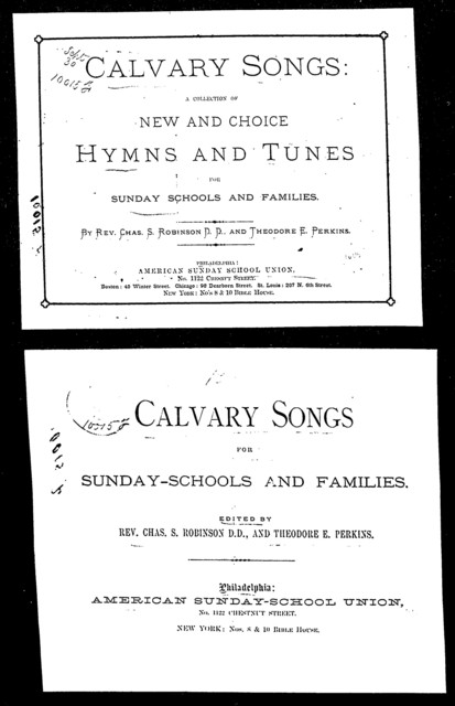 Calvary songs [title page only]