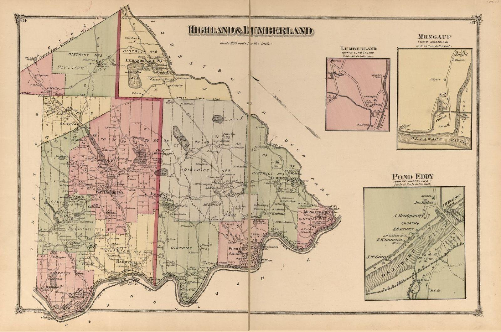 County atlas of Sullivan, New York /