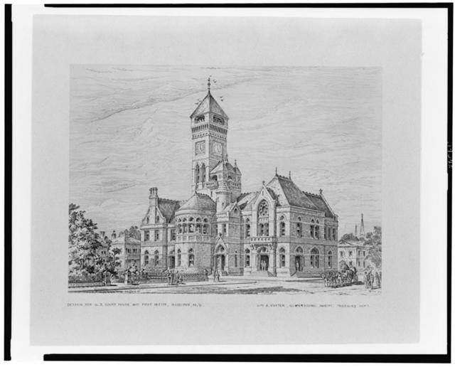 Design for U.S. Court House and Post Office, Auburn, N.Y.