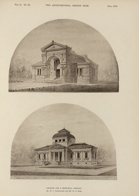 Designs for a memorial library / Mr. W.C. Richardson and Mr. H.G. King.