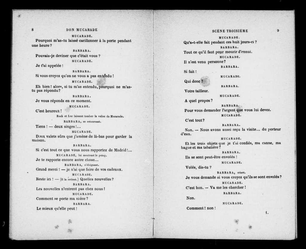 Don Mucarade. Libretto. French