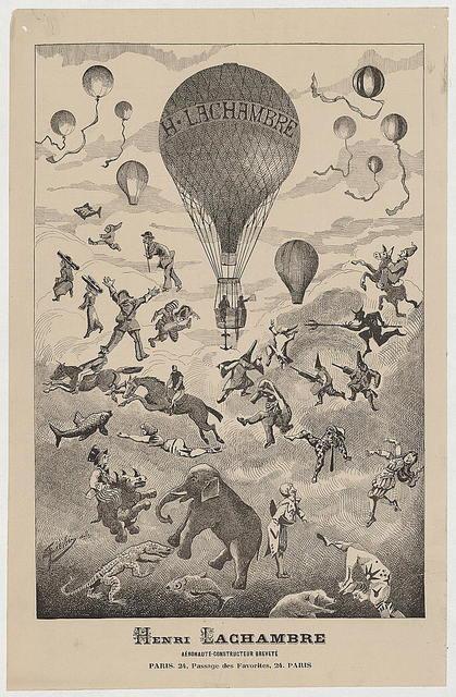 Henri Lachambre, aéronaute-constructeur breveté, Paris. 24, Passage des Favorites, 24. Paris / Fievoir(?) dele.