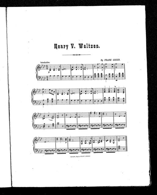 Henry V. waltzes