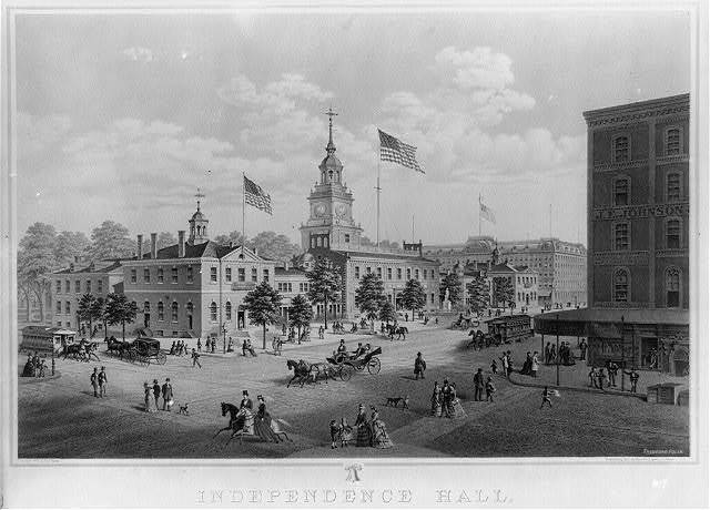 Independence Hall. Philadelphia 1876 / Theodore Poleni.